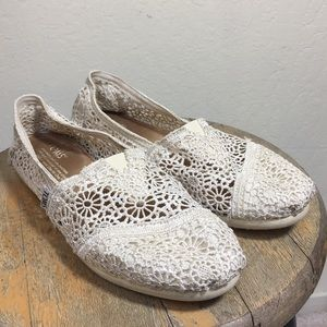 Toms Natural Moroccan Crochet Shoes 7.5